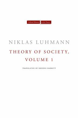 Theory of Society   2012 edition cover