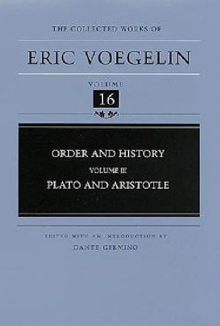 Order and History Plato and Aristotle  2000 edition cover