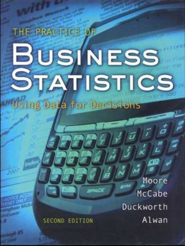 Practice of Business Statistics W/CD  2nd 2009 edition cover