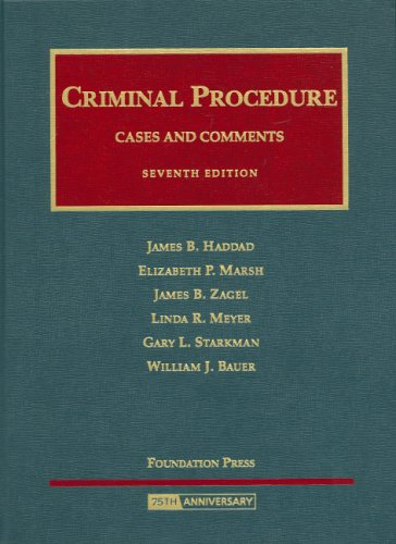 Criminal Procedure Cases and Comments 7th 2008 (Revised) edition cover