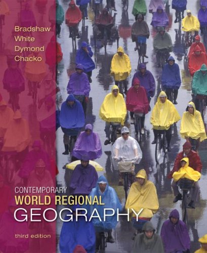 Contemporary World Regional Geography  3rd 2009 edition cover
