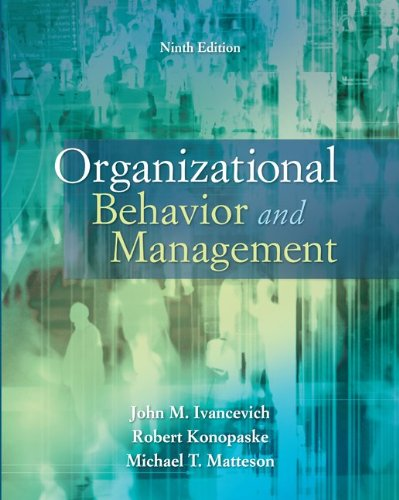 Organizational Behavior and Management  9th 2011 edition cover