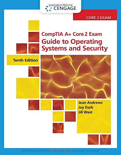 Guide to Operating Systems and Security  10th 2019 (Revised) 9780357108505 Front Cover