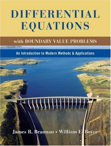 Differential Equations with Boundary Value Problems An Introduction to Modern Methods and Applications  2009 edition cover