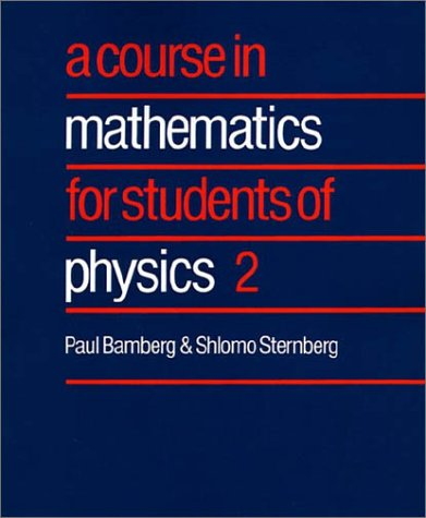 Course in Mathematics for Students of Physics   1991 9780521406505 Front Cover