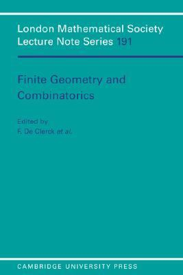 Finite Geometries and Combinatorics   1993 9780521448505 Front Cover