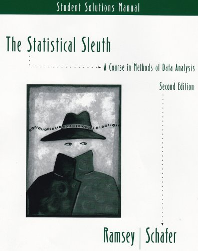 Statistical Sleuth  2nd 2002 9780534389505 Front Cover