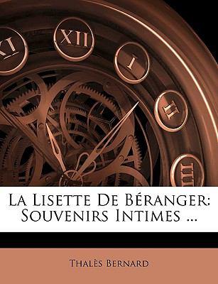 Lisette de B�ranger Souvenirs Intimes ... N/A edition cover