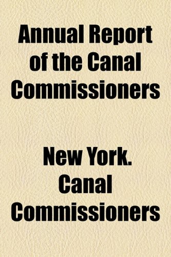 Annual Report of the Canal Commissioners  2010 edition cover