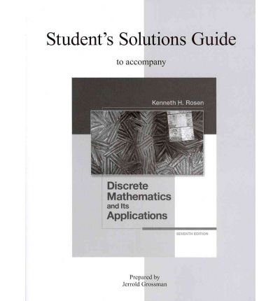 Student's Solutions Guide for Discrete Mathematics and Its Applications  7th 2012 edition cover