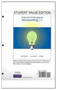 Student Value Edition for Financial and Managerial Accounting Plus MyAccountingLab Student Access Code Card Package  2nd 2009 9780135114506 Front Cover