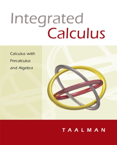Integrated Calculus Calculus with Precalculus and Algebra  2005 9780618219506 Front Cover