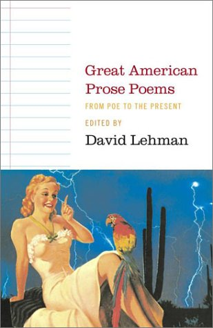 Great American Prose Poems From Poe to the Present  2003 edition cover