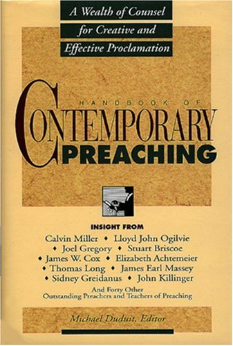 Handbook of Contemporary Preaching   1993 edition cover