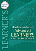 Merriam-Webster's Advanced Learner's English Dictionary   2008 edition cover