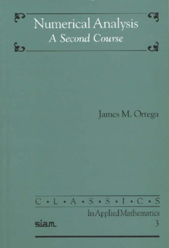 Numerical Analysis A Second Course  1990 edition cover