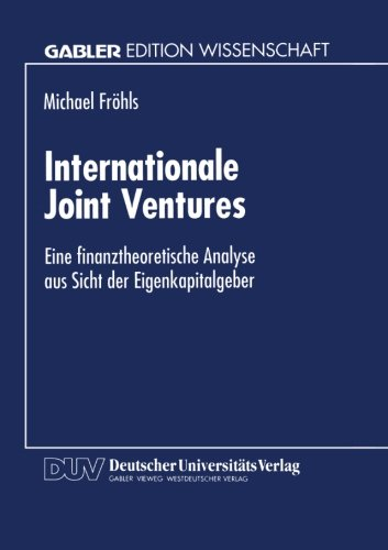 Internationale Joint Ventures   1995 9783824462506 Front Cover