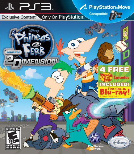 Phineas and Ferb: Across the 2nd Dimension - Playstation 3 PlayStation 3 artwork