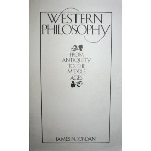 Western Philosophy From Antiquity to the Middle Ages  1987 edition cover