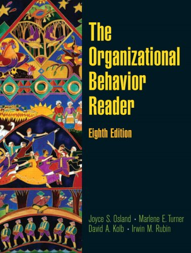 Organizational Behavior Reader  8th 2007 (Revised) edition cover