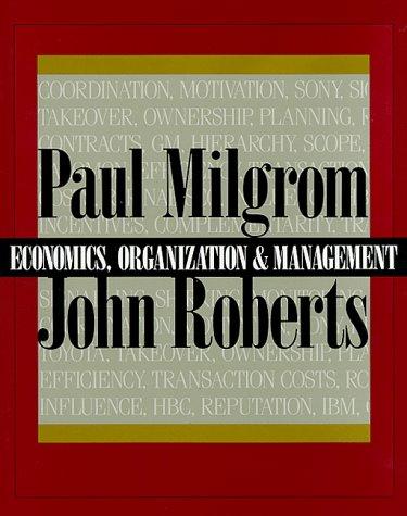 Economics, Organization and Management   1992 edition cover