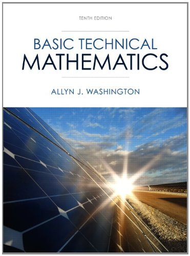 Basic Technical Mathematics  10th 2014 edition cover