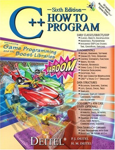 C++ How to Program  6th 2008 edition cover