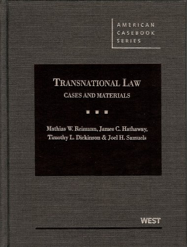 Transnational Law: Cases and Materials  2013 edition cover