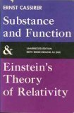 Substance and Function and Einstein's Theory of Relativity 1st 9780486200507 Front Cover