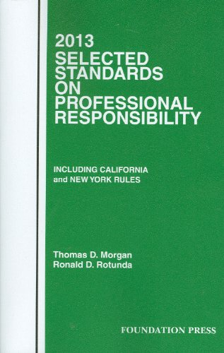Selected Standards on Professional Responsibility: 2013  2012 edition cover