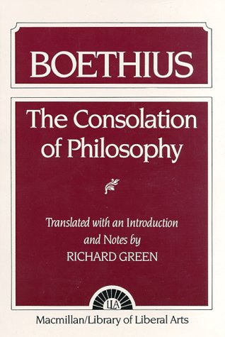Consolation of Philosophy Boethius  1962 edition cover