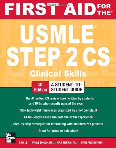 First Aid for the USMLE Step 2 CS  4th 2012 edition cover