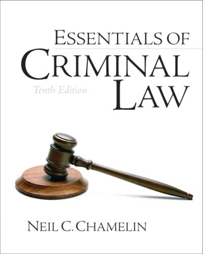 Essentials of Criminal Law  10th 2009 edition cover