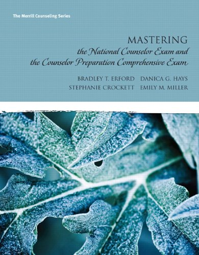 Mastering the National Counselor Exam and the Counselor Preparation Comprehensive Exam   2011 edition cover