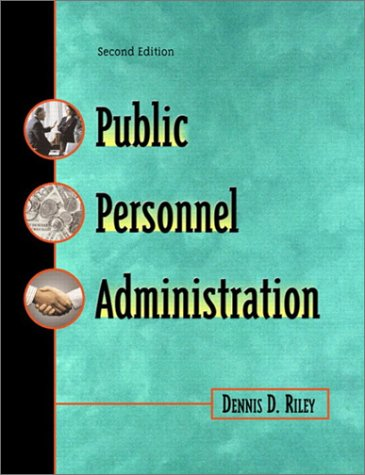Public Personnel Administration  2nd 2002 edition cover