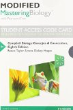 Modified MasteringBiology with Pearson EText -- Standalone Access Card -- for Campbell Biology Concepts and Connections 8th 2015 edition cover