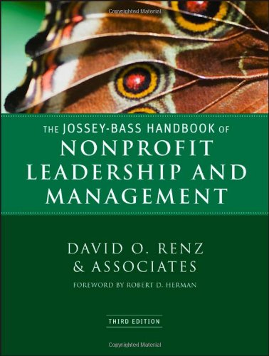 Jossey-Bass Handbook of Nonprofit Leadership and Management  3rd 2011 edition cover
