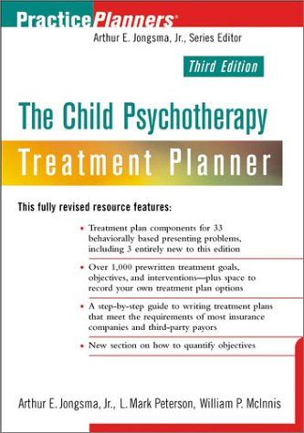 Child Psychotherapy Treatment Planner  3rd 2003 (Revised) edition cover