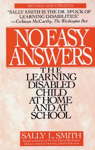 No Easy Answer The Learning Disabled Child at Home and at School  1995 (Revised) edition cover