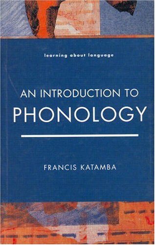 Introduction to Phonology   1989 edition cover