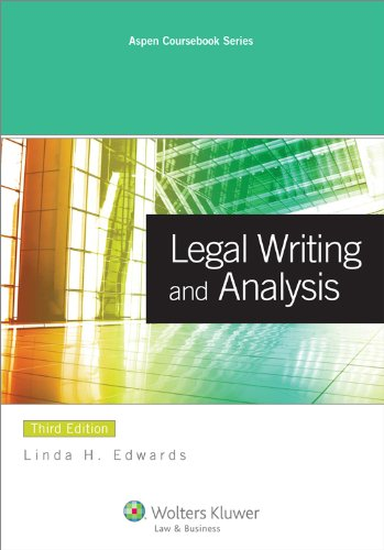 Legal Writing and Analysis  3rd 2011 (Revised) edition cover