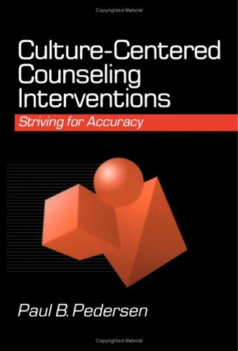 Culture-Centered Counseling Interventions Striving for Accuracy  1997 edition cover