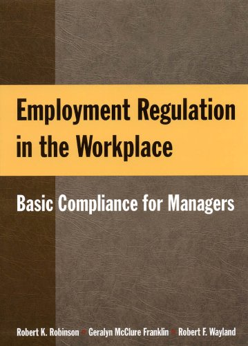 Employment Regulation in the Workplace Basic Compliance for Managers  2010 edition cover