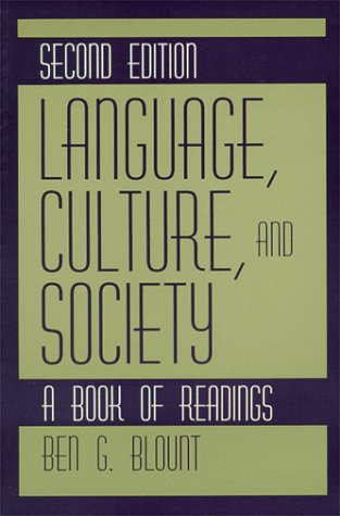 Language, Culture, and Society A Book of Readings 2nd 1995 9780881338508 Front Cover