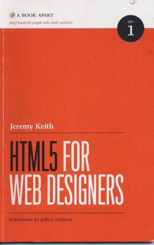 HTML5 FOR WEB DESIGNERS N/A edition cover