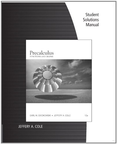 Precalculus Functions and Graphs 12th 2012 edition cover