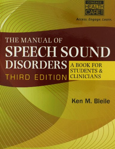 Manual of Speech Sound Disorders (Book Only)  3rd 2015 9781285175508 Front Cover