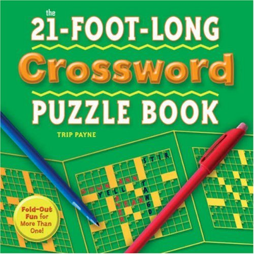 21-Foot-Long Crossword Puzzle Book  N/A 9781402745508 Front Cover