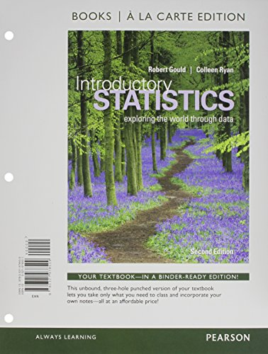 Introductory Statistics: Exploring the World Through Data, Books a La Carte Edition  2015 edition cover