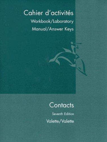 Cpmtacts Cahier D'Activites : Langue et Culture Francaises 7th 2001 edition cover